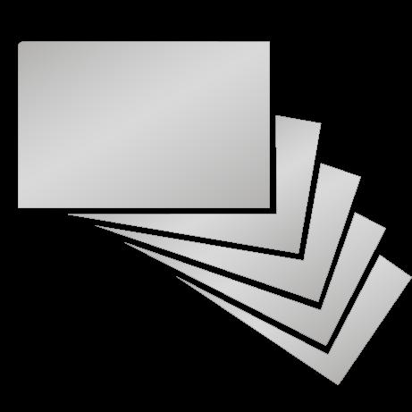 Visitenkarten | partieller UV-Lack einseitig mit einseitiger Softtouchfolie | einseitig