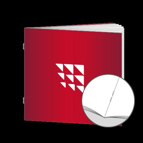 Broschüren Drahtheftung Quadrat